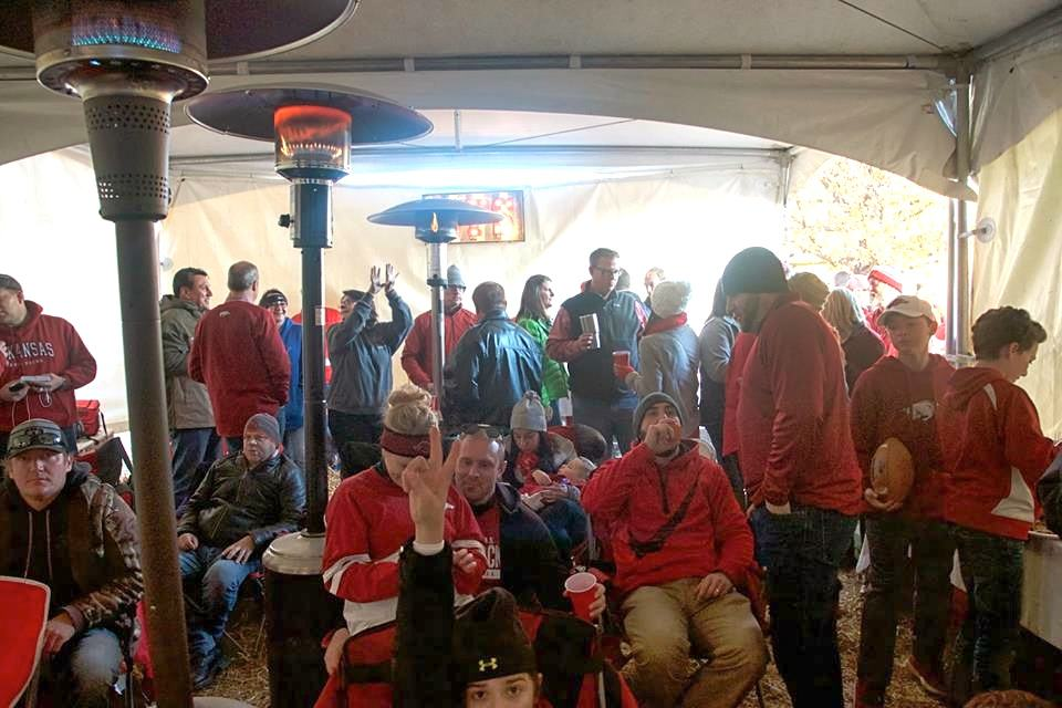 The (warm) Tusk to Tail tent attracted a large crowd.