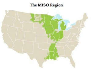 The MISO footprint in the central U.S.