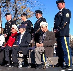 Pearl Harbor veterans W.M. Chase, Walter Smith and Kay Matthews were honored Monday (Dec. 7) during a Pearl Harbor service at the Arkansas Inland Maritime Museum in North Little Rock.