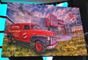 Tyson Springdale Truck Art: The first in the Best of Springdale Chamber Art Series was unveiled during the 94th annual Springdale Chamber of Commerce luncheon Friday (Jan. 22).