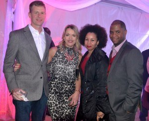 Eric Reisinger, Andrea Hill, Lia Skinner and Roderick Stakley, with RB, one of the main sponsors of the evening.