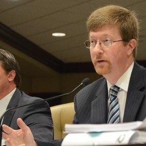 Arkansas Education Commissioner Johnny Key addresses legislators Wednesday about the proposed 2016-17 public school budget.