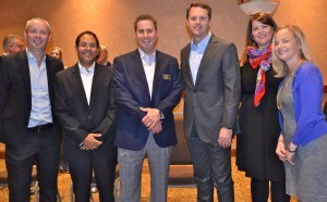Members of the Colgate-Palmolive team pose with Wal-Mart Stores CEO Doug McMillon. Pictured (from left) are: Gregg Parsons, Carlos Barragan, Hank Schepers, Doug McMillon, Emma Grant, and Stacie Furlano.