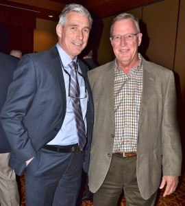 (from left) Greg Foran, president and CEO of Walmart U.S. and keynote speaker for the evening, with Chuck Feling.