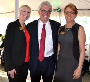 (from left) Dr. Meredith Brunen, executive director of the NWACC Foundation; Ramsay Ball, Foundation board member; and Dr. Evelyn Jorgenson, president of NWACC.