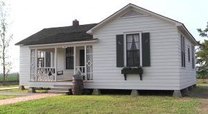 The restored boyhood home of Johnny Cash.
