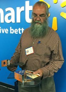 David Williamson of Fayetteville invented two corner shelves that mount with two screws either inside the corner or outside the corner. He pitched his Corner Mate product to Walmart buyers at Tuesday's Open Call and was told to he needed sales history with Walmart.com before it could be placed inside Walmart's stores. The Wal-Mart buyer said it was one of the most original and creative items she had seen all day.