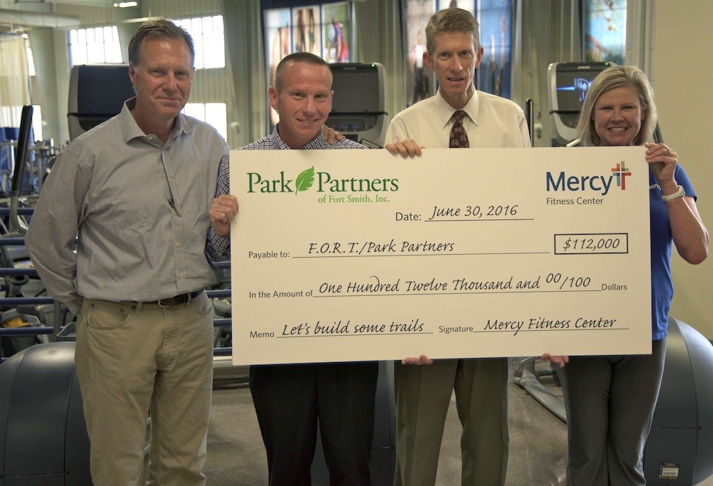 Mercy, Mercy Fitness donate $112,000 to Fort Smith trail system