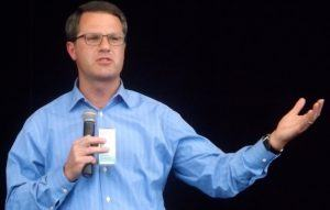 Wal-Mart Stores CEO Doug McMillon tells prospective suppliers and manufacturers the company needs their innovative products to keep growth going. McMillon spoke at the end-of-day reception held for the suppliers and manufacturers at the Walmart AMP in Rogers on Tuesday (June 28).