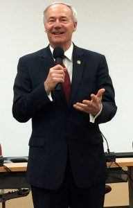 Gov. Asa Hutchinson spoke at the first Academy for Career Educators in Springdale on Monday (June 6). He said workforce development and having a skilled talent pool is critical to the ongoing growth of the state.