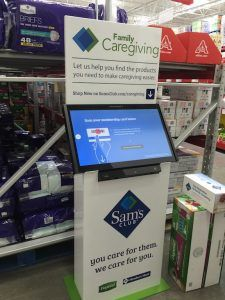 "An example of an ""endless aisle"" kiosk now being used in Sam's Club stores."