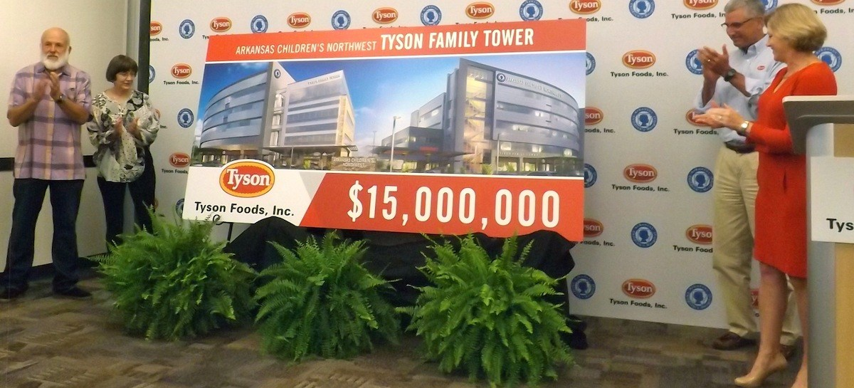 Tyson family and tyson foods give 15 million to arkansas for Arkansas cuisine