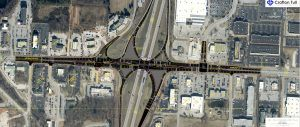 Design plans for the interchange at Interstate 49 and U.S. 71B in Rogers.