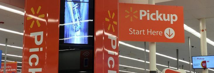 Walmart U S  tests new collection device for online pickup