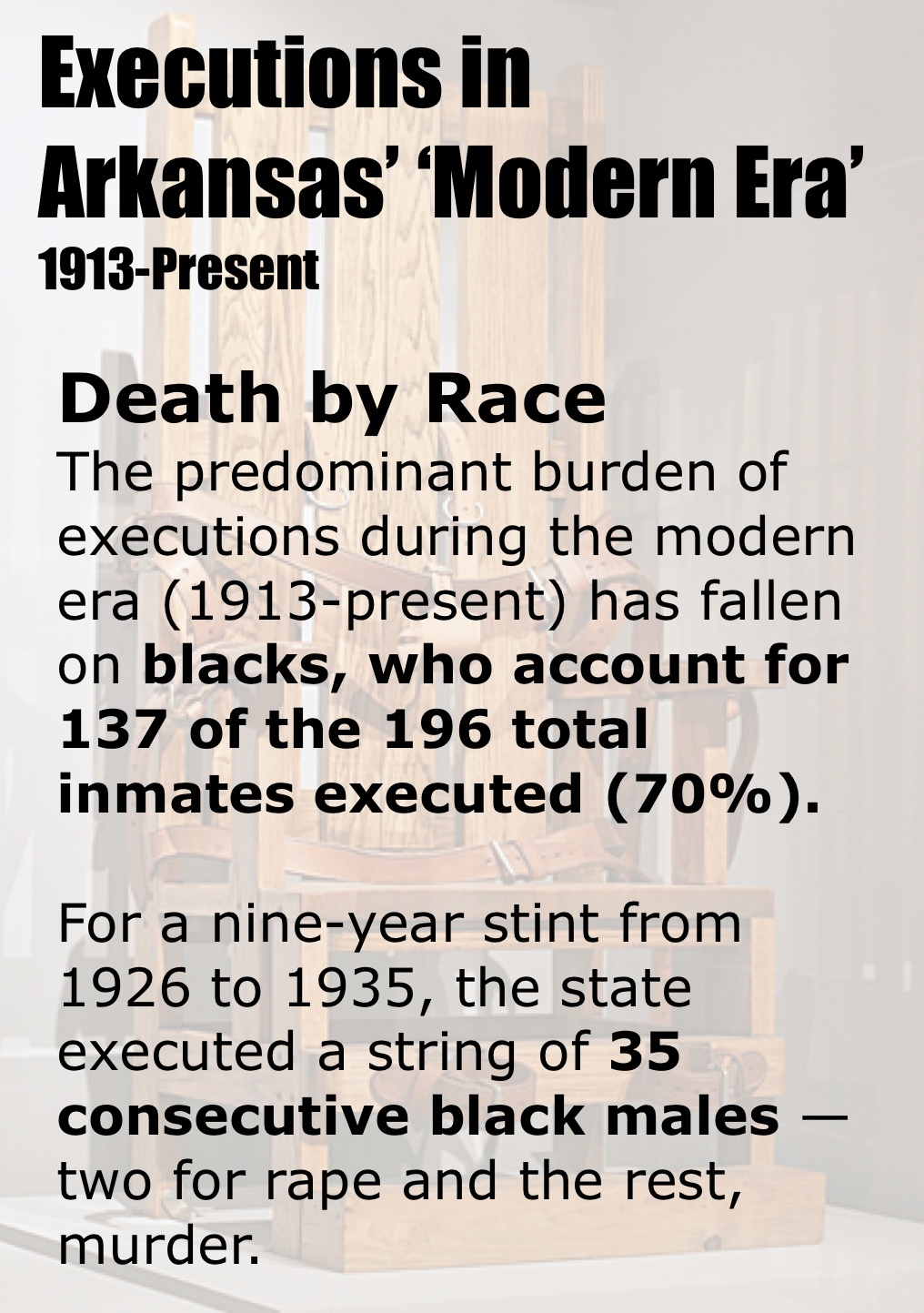 A century of death: 196 executions, 15 governors, and Arkansas