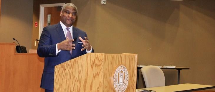 Former Transportation Secretary Rodney Slater speaks on