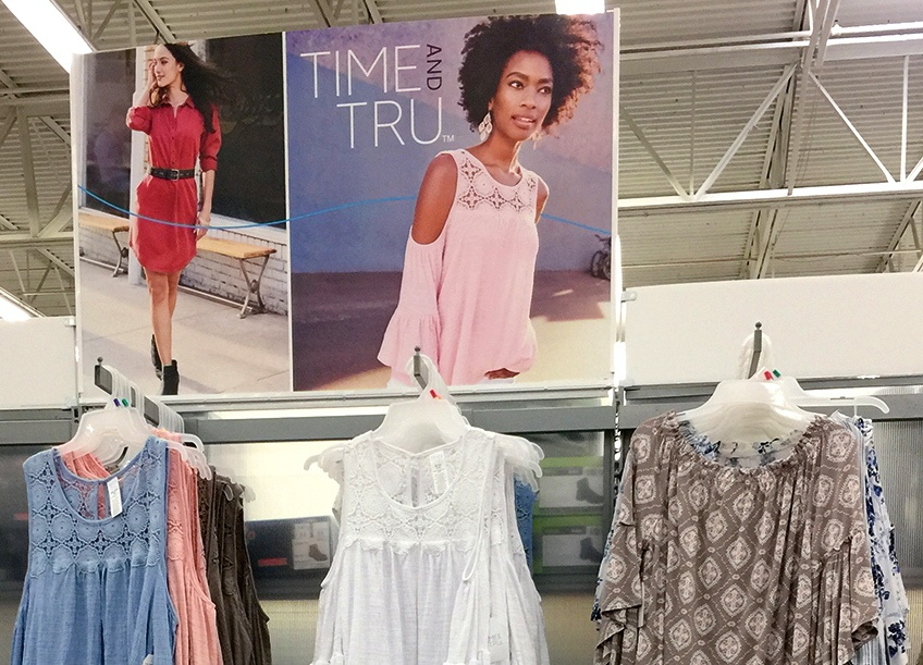 3bc32a87f Time and Tru is one of four new apparel brands for women, men and kids  unveiled recently by Walmart.