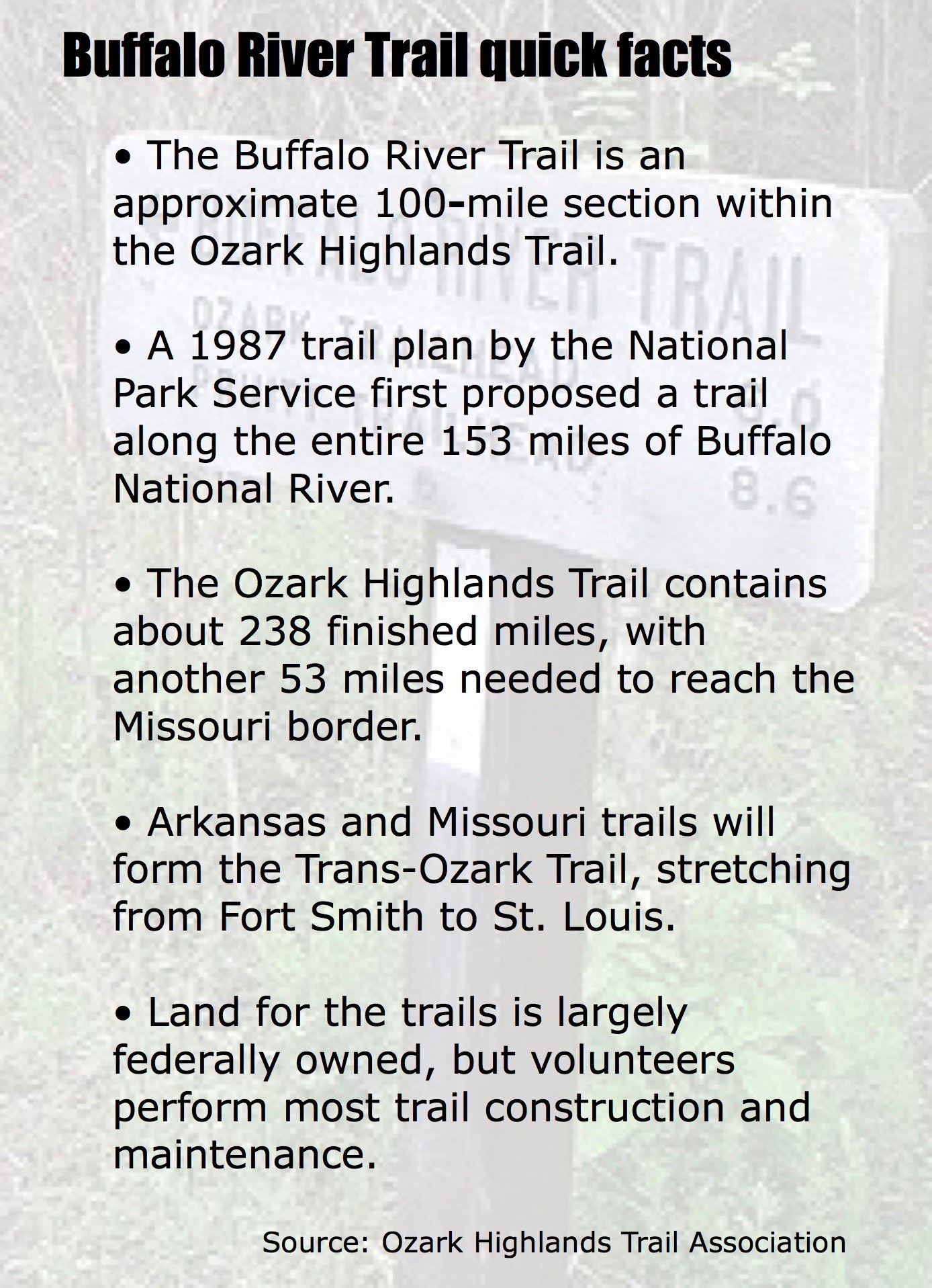 Key section for Buffalo River Trail becomes available - Talk ...