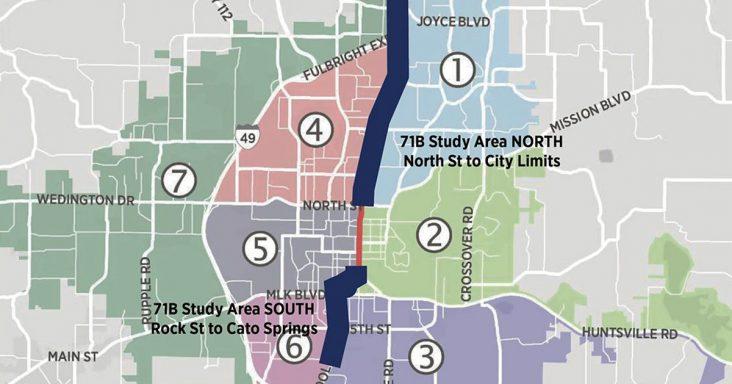 Fayetteville Wants Feedback On Improving Us Highway 71b Talk - Us-highway-71-map