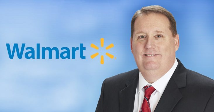 Mike Moore, head of Walmart Supercenters, announces
