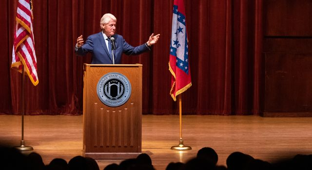Former President Clinton speaks at ASU: 'Multiplication is better than division'