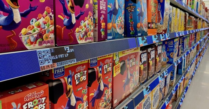 Walmart conducting pilot test of electronic shelf labels, LED strips