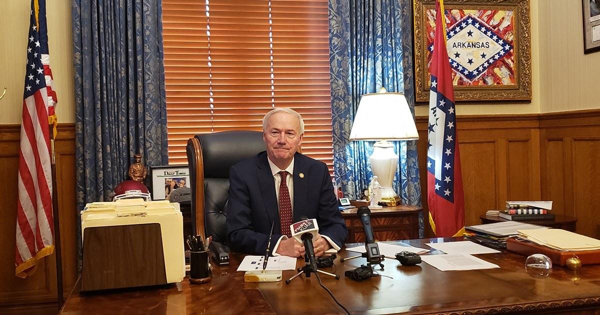 Gov. Hutchinson birth to 'purple flag' gun legislation, would perhaps assist fresh dislike crime legislation thumbnail