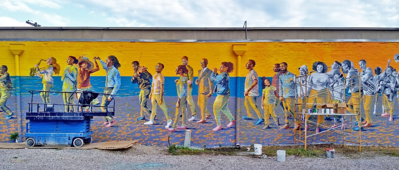 Hot Springs 'Black Broadway' mural celebrates African-American entertainment heritage