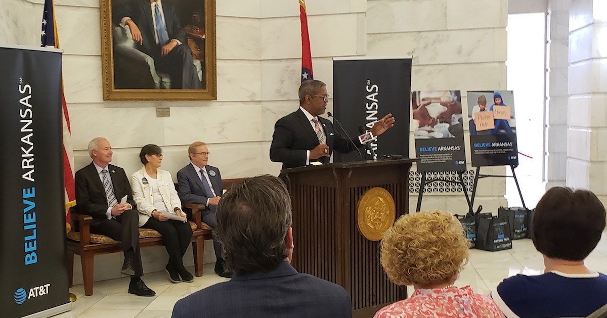 Gov. Hutchinson, AT&T unveil statewide effort to fight hunger in Arkansas